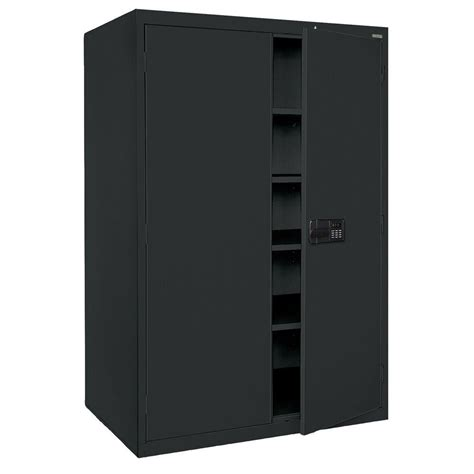 storage cabinet with electronic lock sandusky elite series 78 in h x 46 in w x 24 in d 5
