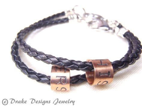 couples bracelet matching by drakedesignsjewelry
