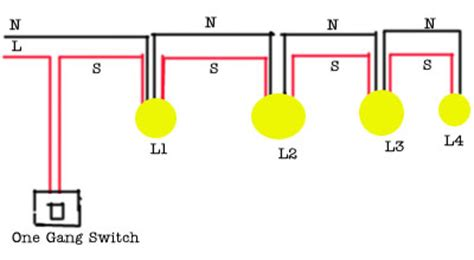 wiring 3 lights to one switch diagram two lights one