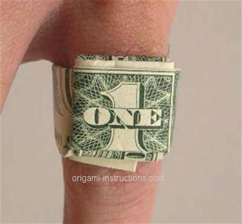 How To Make A Paper Dollar Ring - alf img showing gt easy origami ring