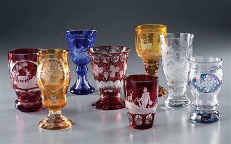 bicchieri di boemia lotto composto da otto bicchieri in vetro di boemia asta