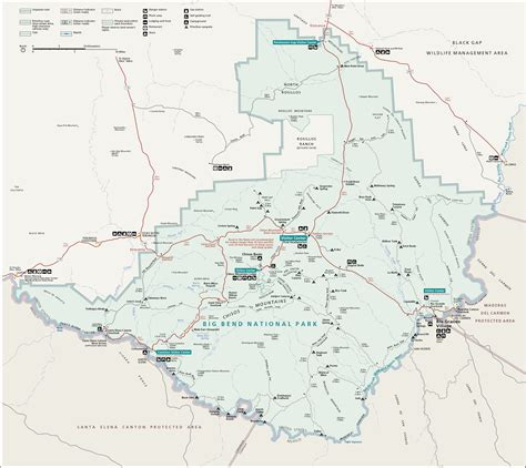 map of big bend texas file map of big bend national park png