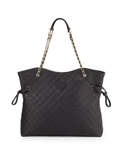 Burch Quilted by Burch Marion Quilted Slouchy Tote In Black Lyst