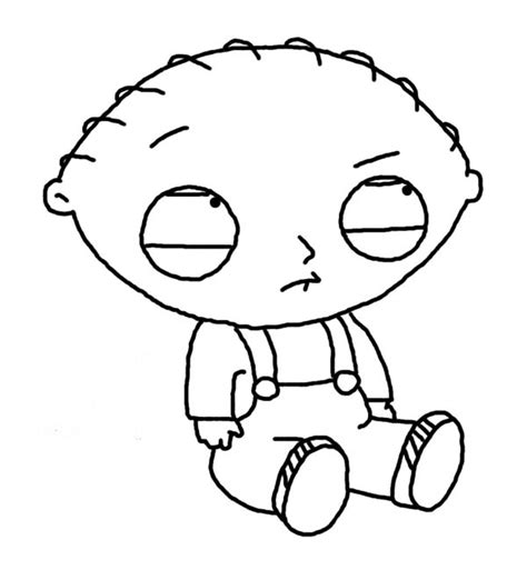 stewie pages coloring pages