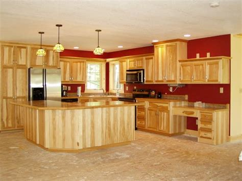 hickory kitchen island hickory kitchens lights over island hickory cabinets
