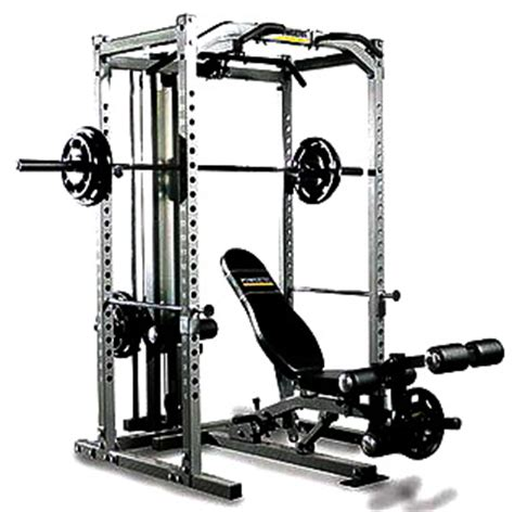 powertec power rack system with lat tower free weight