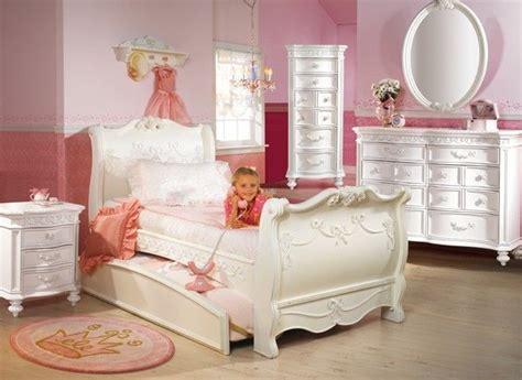 White Princess Bedroom Furniture by Disney Princess 5 Sleigh Bed Bedroom Set