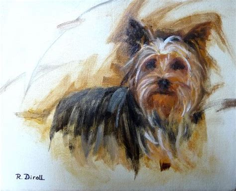 original yorkshire terrier original oil painting yorkshire terrier dog painting pet