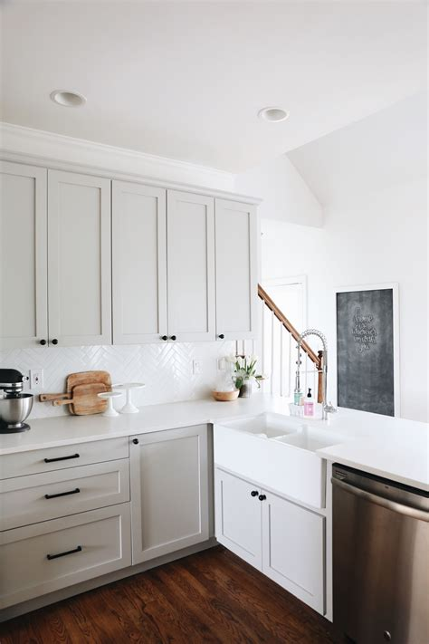 used ikea cabinets our kitchen renovation details herringbone backsplash