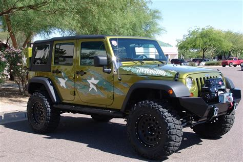 2007 jeep wrangler custom 4 door war wagon 60603