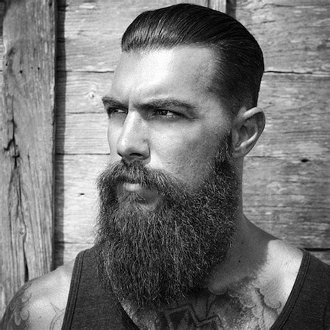 slick back hair and beard facial hair best 20 hairstyles for men with beard in