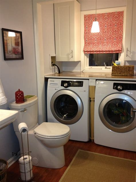 the beige house laundry and powder room renovation - Laundry Powder Room