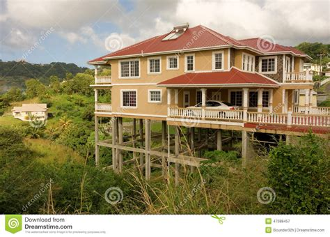 Stilt House Plans by A House On Stilts In The Caribbean Stock Photo Image