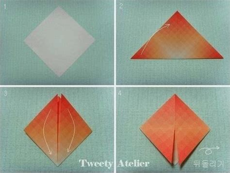 Pretty Craft Paper - how to make pretty paper craft origami flower