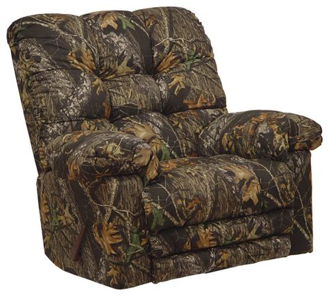 Camouflage Recliners For Adults catnapper magnum camo chaise rocker recliner big heat