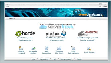 webmail squirrelmail roundcube horde wow connect