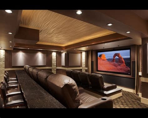 Design Modern Home Theater Leesburg Theater Modern Home Theater Dc Metro By Encore Custom Audio