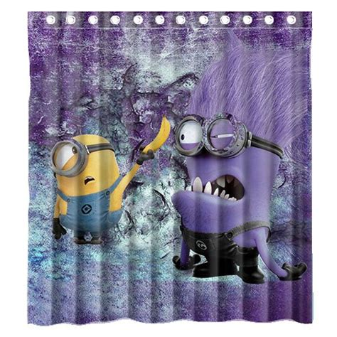 minion shower curtain cute minion shower curtain designs for the kids bathroom decor