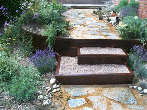 Retaining Wall Planter by Metal Retaining Walls Planters Steps Eclectic
