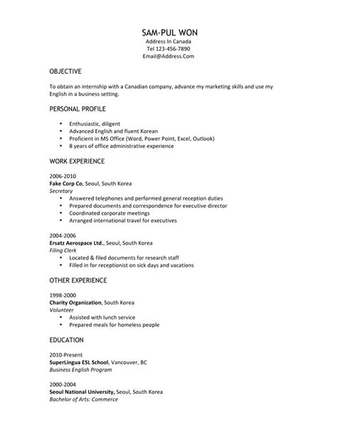 writing a resume for internship sle cover letter for high school student with no work
