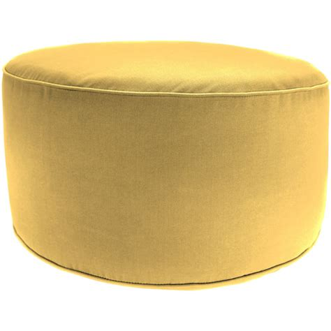 Round Outdoor Pouf Ottoman Canary Yellow Walmart Com