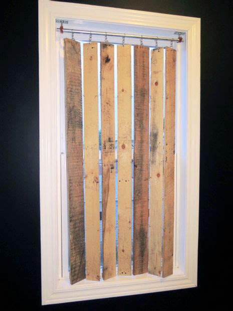 Diy Venetian Blinds diy pallet wood vertical blinds