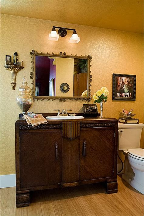 update the bathroom with living room furnishes