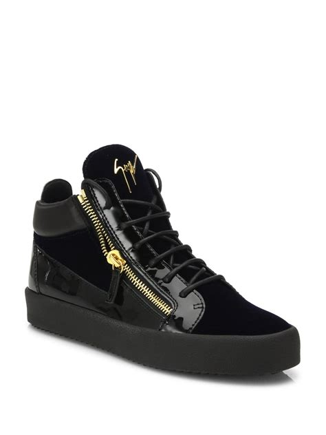 mens patent leather sneakers giuseppe zanotti patent leather sneakers in blue for