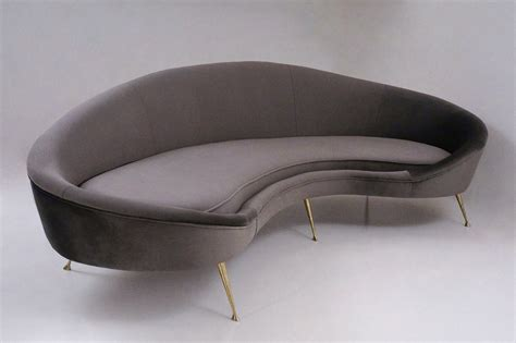 s shaped sofa kidney shaped sofa 101 kidney sofa in portabella mathis
