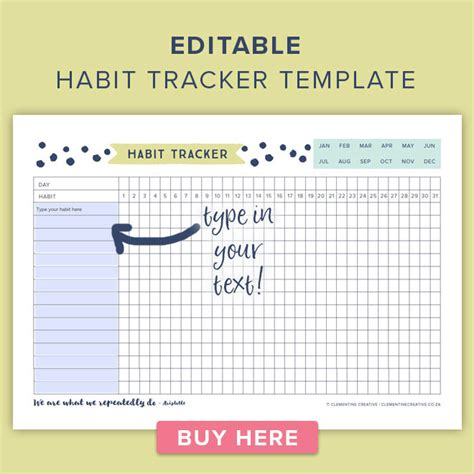 This Free Printable Habit Tracker Will Help You Reach Your Goals Daily Habit Tracker Template