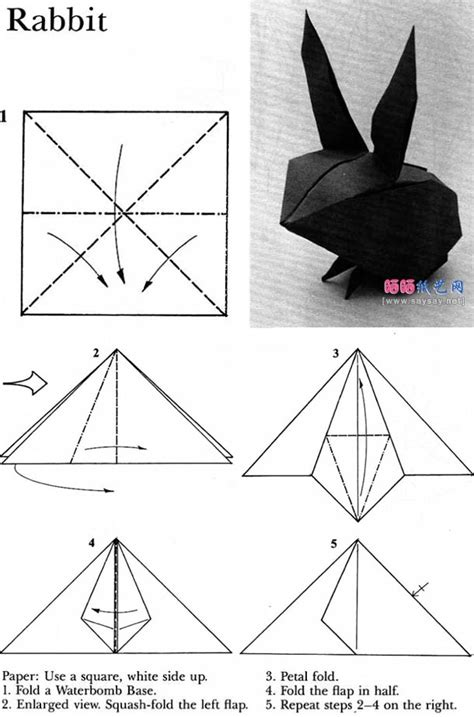 tutorial origami rabbit rabbit origami instructions origami pinterest