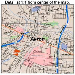 Akron Ohio Map akron ohio street map 3901000