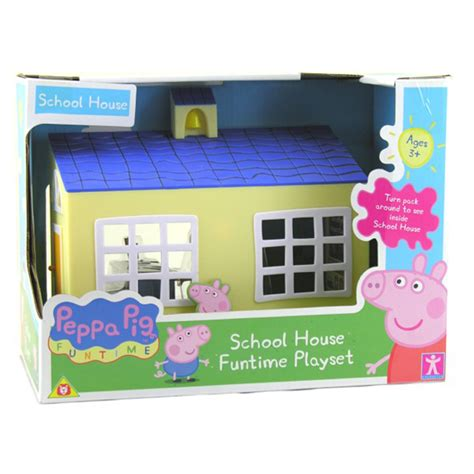 peppa pig the new house peppa pig school house funtime playset brand new in box