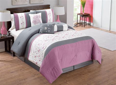 purple and grey comforter set 7 purple ivory gray embroidered comforter set