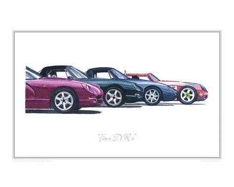 Small Car four tvr s car art print