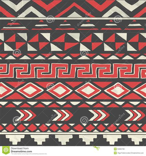 seamless tribal pattern vector free vector aztec tribal seamless pattern on crumpled stock