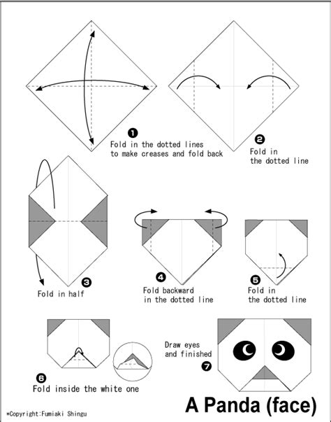 How To Make A Origami Panda - panda easy origami for