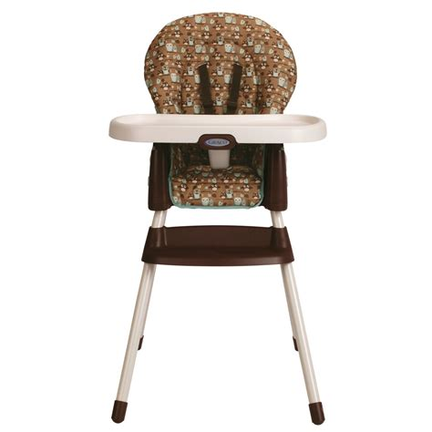 high chair position graco simpleswitch highchair and booster hoot