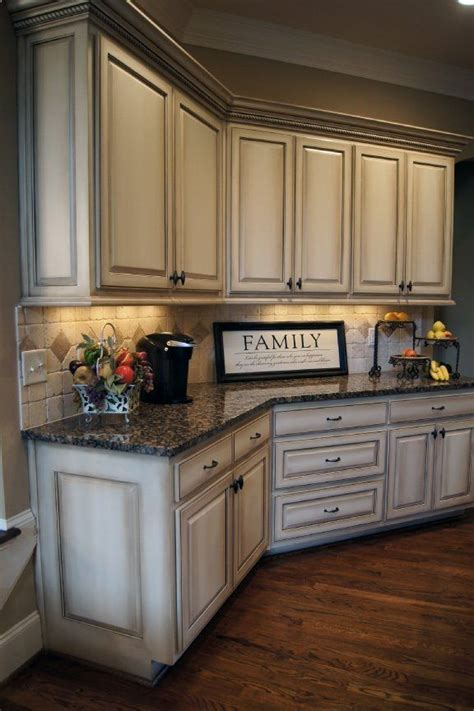 antique finish kitchen cabinets best 25 white glazed cabinets ideas on pinterest
