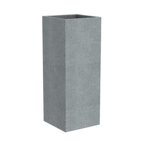 Grey Plastic Planters scheurich c cube grey plastic granite effect planter