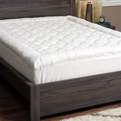 quilted pillow top mattress pad bed cover topper bedding