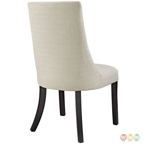 Upholstered Side Dining Chairs Reverie Contemporary Upholstered Dining Side Chair Beige
