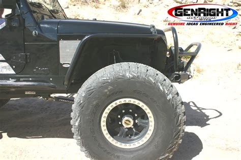 Jeep Wrangler Tj Fenders Genright Hi Fender Fenders With Built In Flares For