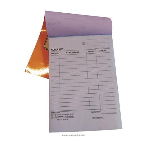 Buku Nota Besar 1 Ply zappie 20 buku nota kontan ncr 2 ply 1 4 folio isi 25 set 50 lembar elevenia