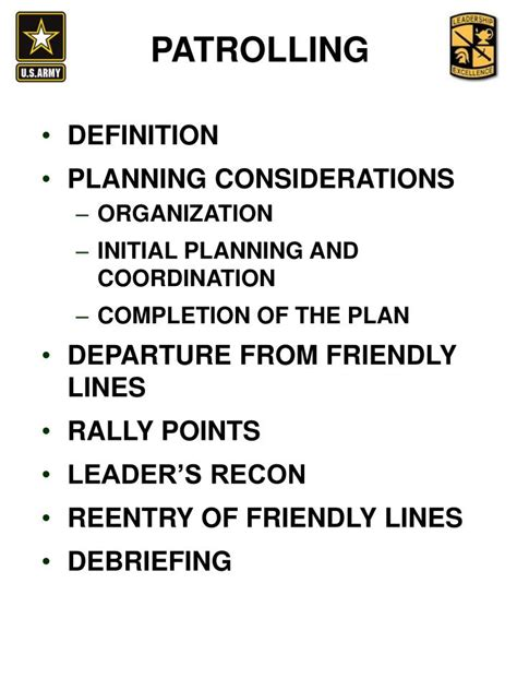 tentative layout meaning ppt troop leading procedures powerpoint presentation