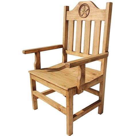 Lone Rustic Furniture by Rustic Pine Collection Lone Arm Chair Sil533