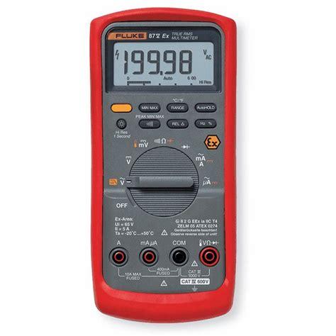 Multimeter Fluke 87v fluke 87v true rms multimeter intrinsically safe from