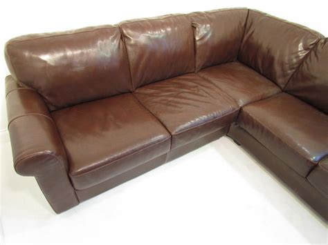 large brown corner sofa a large brown premium leather corner sofa very comfy
