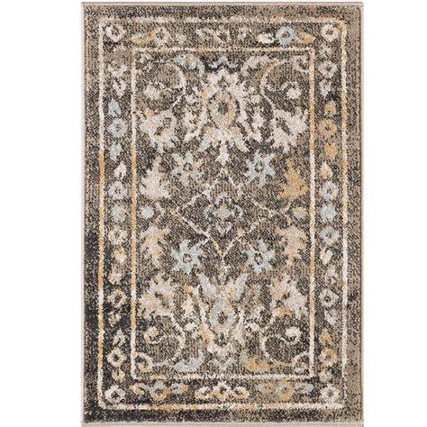 2 x 3 accent rugs tayse rugs peyton taupe 2 ft x 3 ft accent rug ptn1316 2x3 the home depot