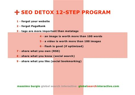 12 Step Detox by Seo Detox From Seo To Social Media Optimization In 12